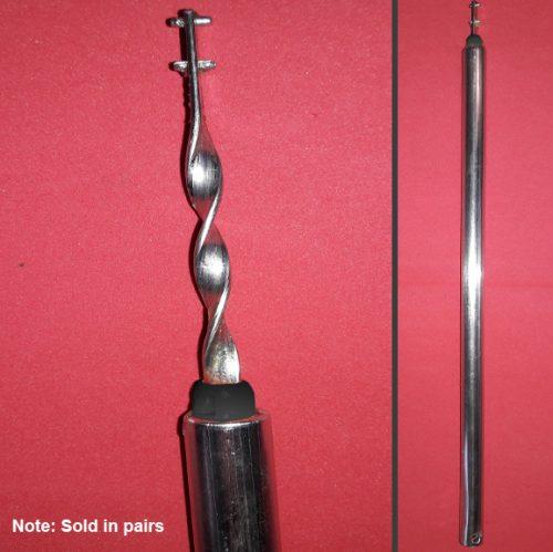 black tip spiral balance rod